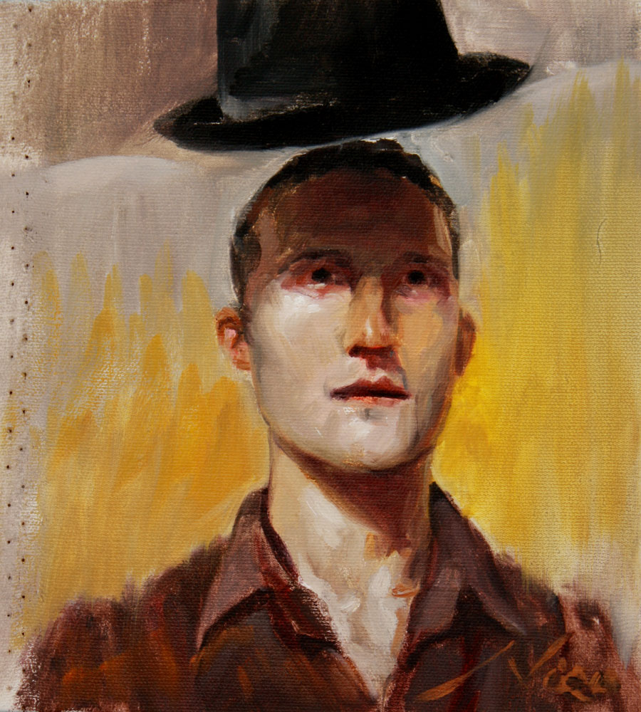 Self Portrait with Floating Hat